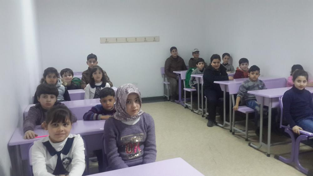 Syrian our children to read and write (Turkish) Training courses