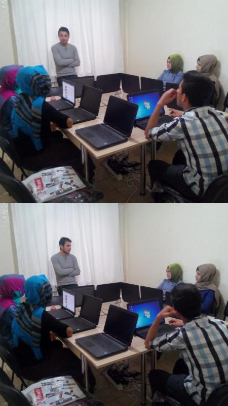 Computer training courses to our Syrian children